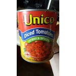 Unico Diced Tomatoes -Herbs&Spices;