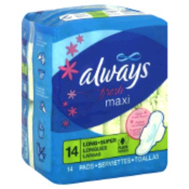 Always Fresh Maxi Pads with Flexi-Wings