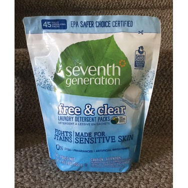 Seventh Generation Laundry Detergent Packs - Free & Clear (45ct)