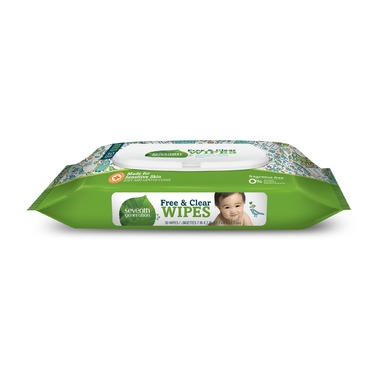 Seventh Generation Free & Clear Baby Wipes (Travel size - 30 ct)