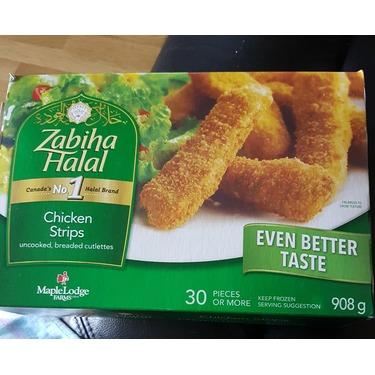 Zabiha halal chicken strips