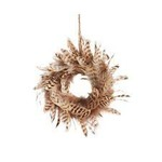 Canvas feather ornament