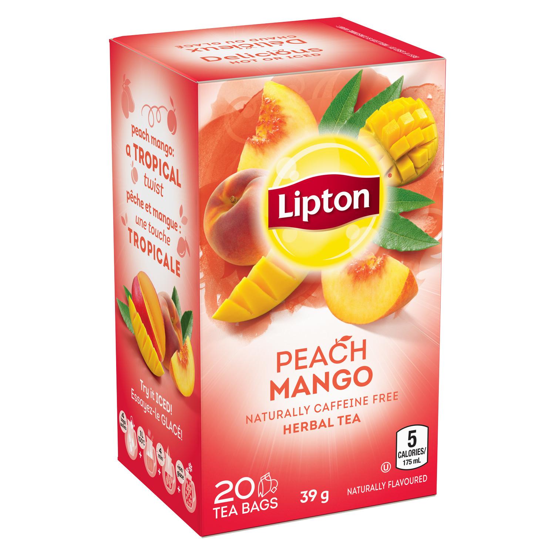 is diet lipton peach tea cafinated