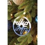 Canvas dipped ceramic snowflake ornament