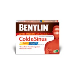 BENYLIN® All-In-One Cold And Flu Extra Strength Day & Night Caplets