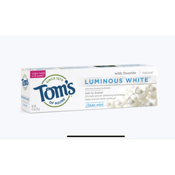 Tom's of Maine Luminous White Toothpaste Clean Mint