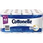 Cottonelle CleanCare Bath Tissue, Double Roll Toilet Paper